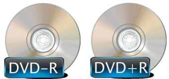 Różnice między DVD–R a DVD+R